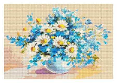 click here to view larger image of Daisies in a Sea of Blue (chart)