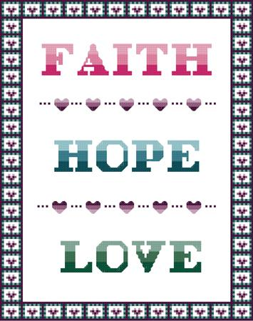 click here to view larger image of Faith Hope Love Sampler 2 (chart)