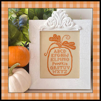 click here to view larger image of Pumpkin Alphabet (w/ silk) (chart with charms/buttons)
