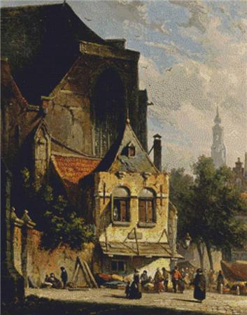 click here to view larger image of A Busy Market in a Dutch Town (chart)