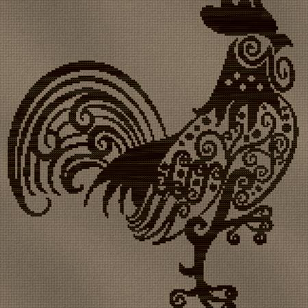 click here to view larger image of Monochrome Rooster (chart)