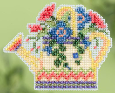 click here to view larger image of Floral Watering Can - Spring Bouquet collection (counted cross stitch kit)