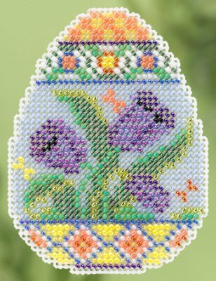 click here to view larger image of Tulip Egg - Spring Bouquet collection (counted cross stitch kit)