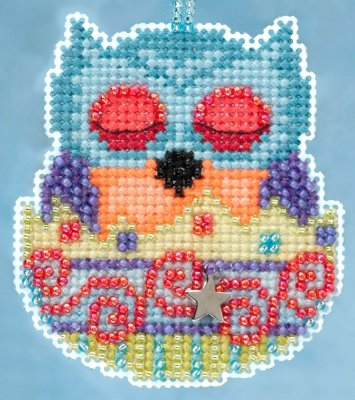 click here to view larger image of Finn Owlets - Spring Charmed Ornament series (counted cross stitch kit)