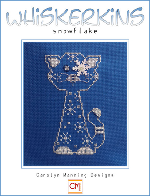 click here to view larger image of Snowflake - January Whiskerkins (chart with charms/buttons)