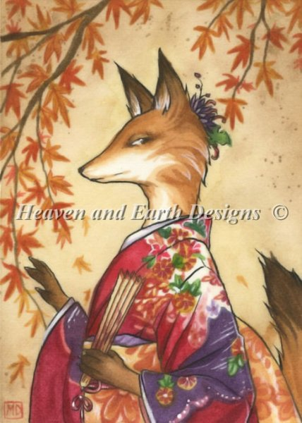 click here to view larger image of Maple Kitsune - Quick Stitch (chart)