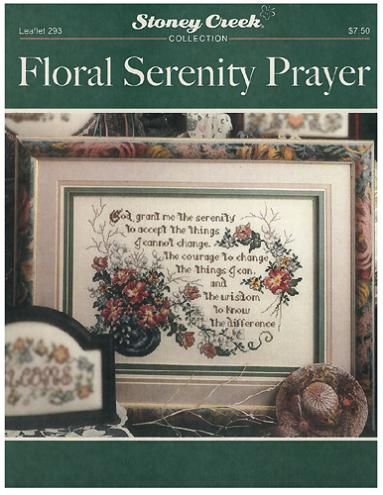 click here to view larger image of Floral Serenity Prayer (chart)