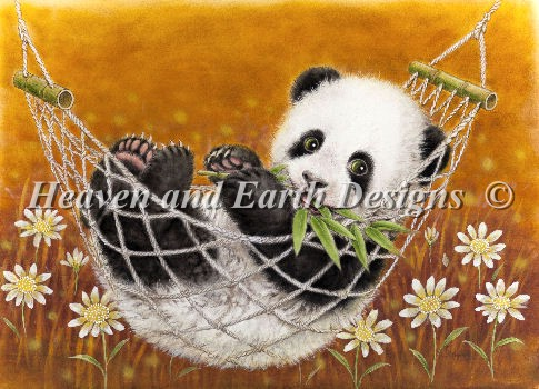 click here to view larger image of Hammock Panda - Yellow (chart)