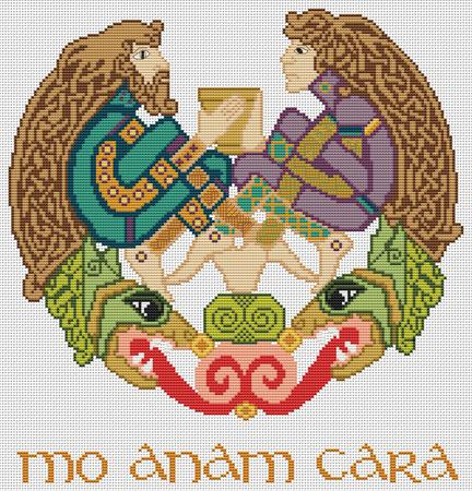 click here to view larger image of Mo Anam Cara Knotwork (chart)