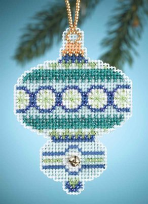 click here to view larger image of Blue Topaz - Christmas Jewels (counted cross stitch kit)