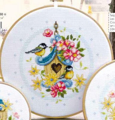 click here to view larger image of Our Bird House (counted cross stitch kit)
