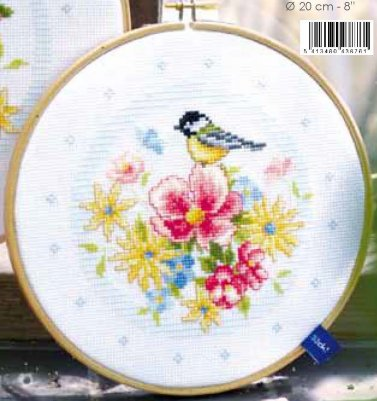 click here to view larger image of Bird and Flower (counted cross stitch kit)