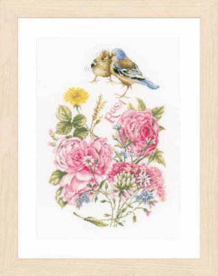 Finches - click here for more details about counted cross stitch kit