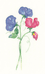 Sweet Peas - Sue Hill Flowers (chart only) - click here for more details about chart