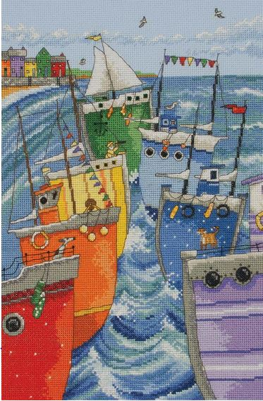 click here to view larger image of Rainbow Flotilla (counted cross stitch kit)