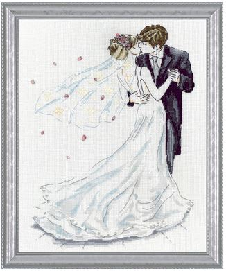click here to view larger image of Wedding Couple (counted cross stitch kit)