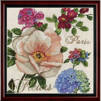 click here to view larger image of Paris Fleurs (counted cross stitch kit)