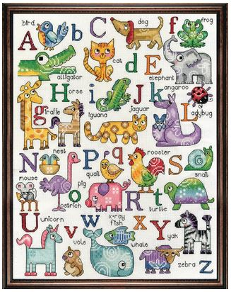 click here to view larger image of ABC Animals Sampler (counted cross stitch kit)