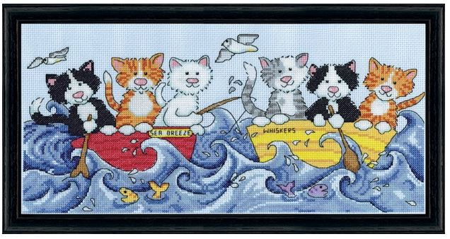 click here to view larger image of At Sea Cats (counted cross stitch kit)