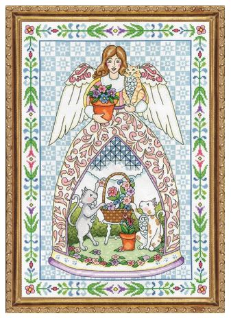 click here to view larger image of Kitty Angel (counted cross stitch kit)