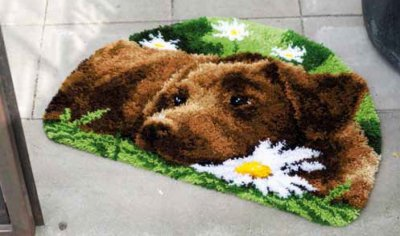 click here to view larger image of Chocolate Labrador Rug (needlepoint)