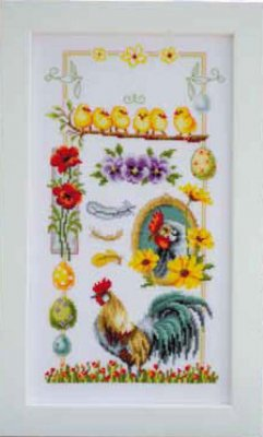 click here to view larger image of About Chickens (counted cross stitch kit)