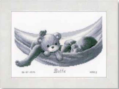 click here to view larger image of Baby in Hammock (counted cross stitch kit)