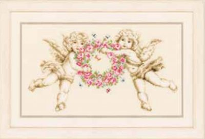 click here to view larger image of Angels (counted cross stitch kit)