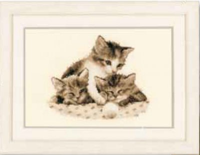 click here to view larger image of 3 Little Kittens (counted cross stitch kit)