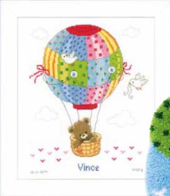 click here to view larger image of Hot Air Balloon (counted cross stitch kit)