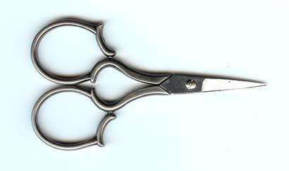 click here to view larger image of 4 inch Silver Leaf Handle Embroidery Scissor (accessory)