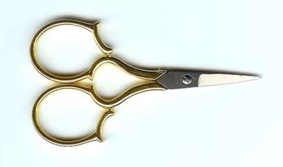 click here to view larger image of 4 inch Gold Leaf Handle Embroidery Scissor (accessory)