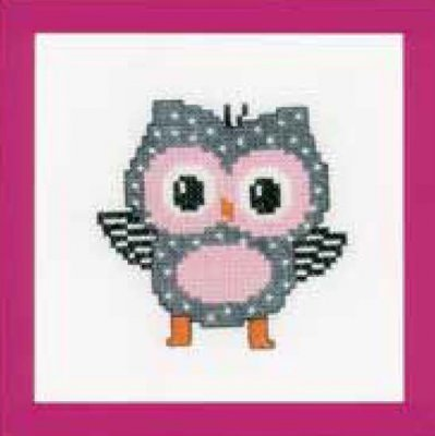 click here to view larger image of Grey Owl (counted cross stitch kit)