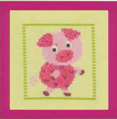 click here to view larger image of Piggy (counted cross stitch kit)