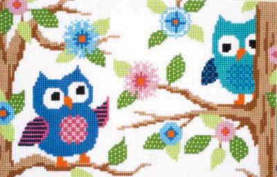 click here to view larger image of Owl Talk Rug (needlepoint)