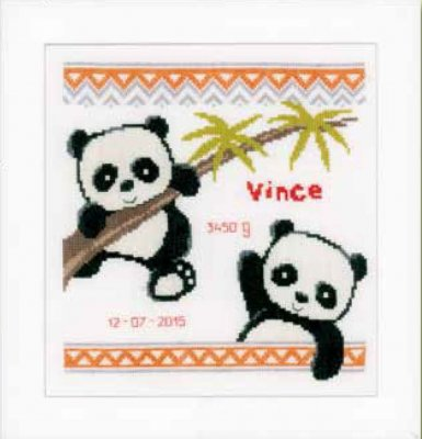 click here to view larger image of Pandas (counted cross stitch kit)