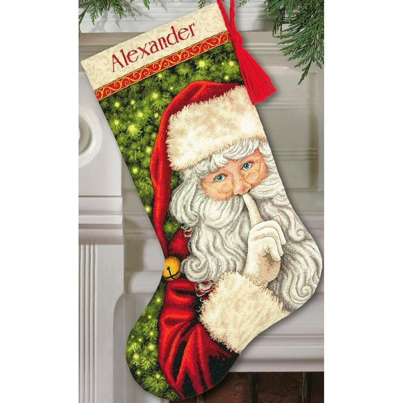 click here to view larger image of Secret Santa Stocking (counted cross stitch kit)