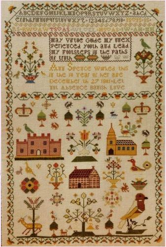 click here to view larger image of Ann Spence 1801 Sampler (chart)