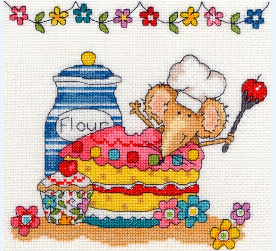 click here to view larger image of Baking Mouse (counted cross stitch kit)