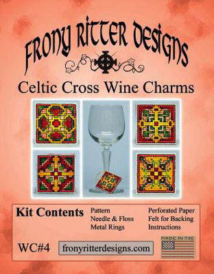 click here to view larger image of Celtic Cross Wine Charm Kits (counted cross stitch kit)