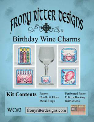 click here to view larger image of Birthday Wine Charms Kit (counted cross stitch kit)