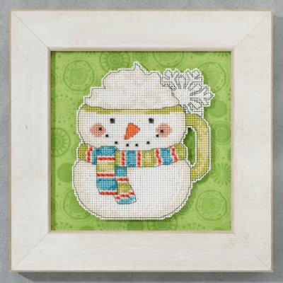 click here to view larger image of Frosty Mug - Winter Cheer (counted cross stitch kit)