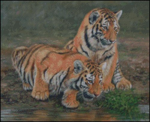 click here to view larger image of 2 Tiger Cubs (chart)