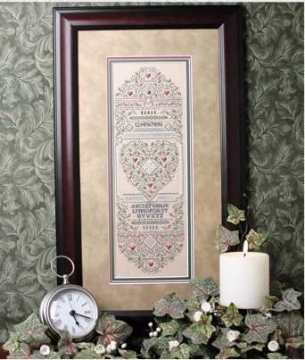 click here to view larger image of Canterbury Rose Sampler (counted cross stitch kit)
