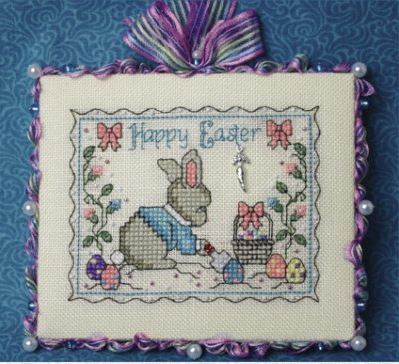 click here to view larger image of Busy Easter Bunny (Very Limited Edition) (counted cross stitch kit)