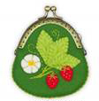 click here to view larger image of Strawberry Purse (counted cross stitch kit)