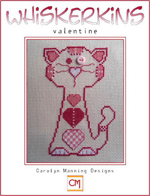 click here to view larger image of Valentine - February Whiskerkins (chart with charms/buttons)
