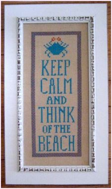 click here to view larger image of Keep Calm And Think Of The Beach (chart)
