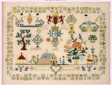 click here to view larger image of Dutch Sampler 1787 (chart)