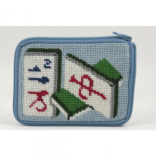 click here to view larger image of Stitch and Zip Mah Jongg Coin Purse (stitch n zip needlepoint)
